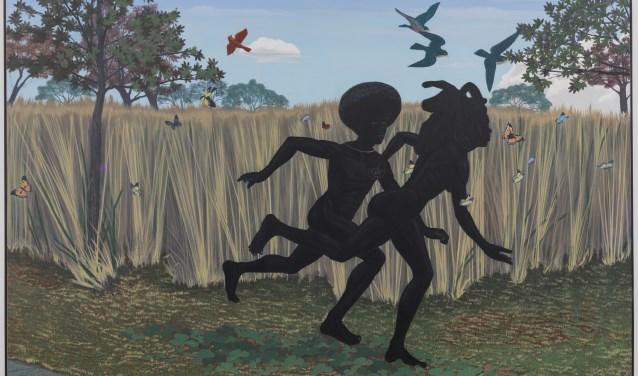Vanaf zaterdag te zien in Kunsthal KAdE: 'Vignette' van Kerry James Marshall, 2003, Defares Collection.