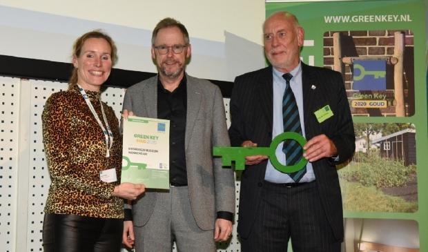 <p>Uitreiking Green Key certificaat aan Biesbosch MuseumEiland in 2020</p>