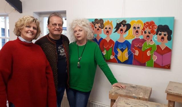 Nanda van der Vliet, Hans Verloop en Denise Hulst roepen namens de werkgroep Kunstroute kunstnaars op zich aan te melden.