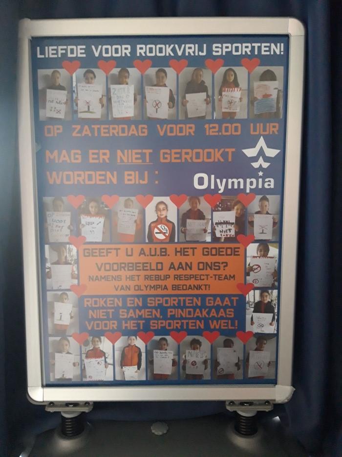 De poster gemaakt door de kinderen