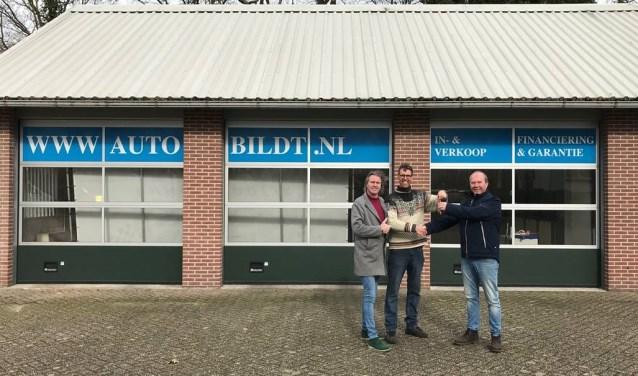 V.l.n.r. Hans van de Bildt, Ron van de Bildt en Piet-Jan Goes