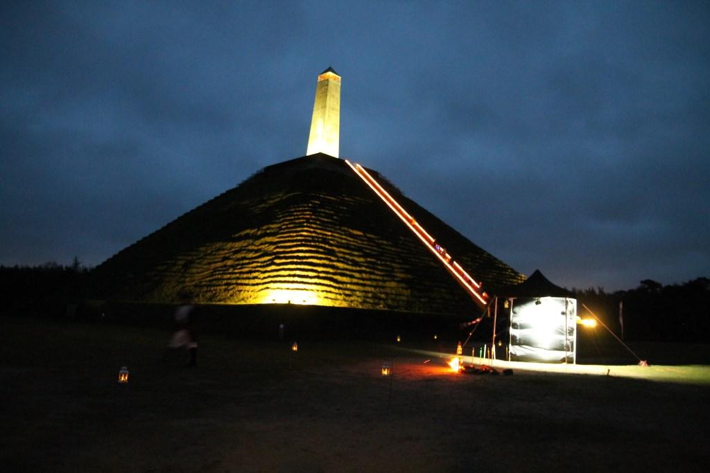 Het tentje van de laatste verteller stond onderaan de Pyramide Hannie van de Veen © BDU media