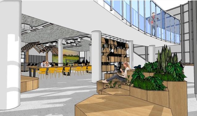 Artist impression van het nieuwe kantoor van Natuurmonumenten, dat in Amersfoort komt.