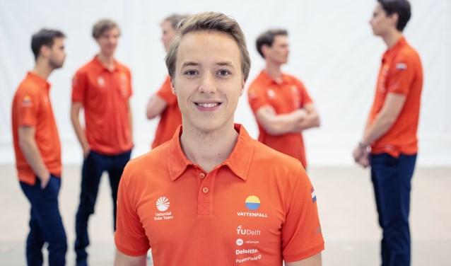 Jan Groot uit Vijfhuizen maakt dit jaar onderdeel uit van het Vattenfall Solar Team