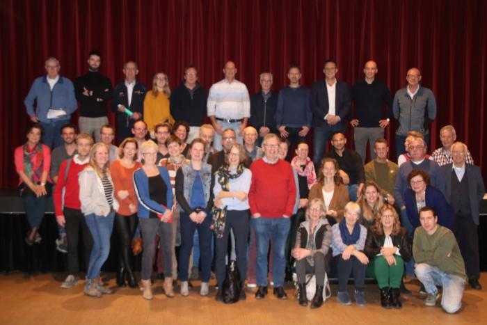 Supporters van het Leusden Sport- en Beweegakkoord