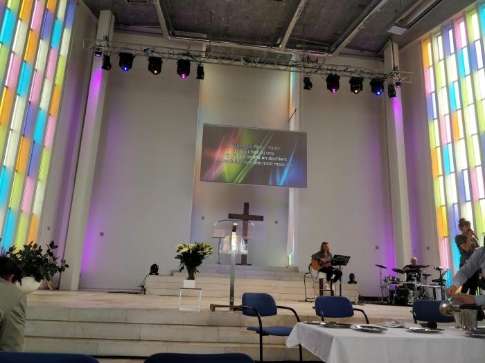 Een dienst in de Goede Herderkerk