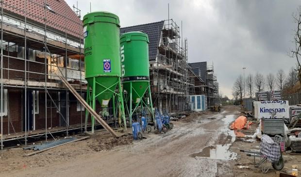 Woningen die momenteel in aanbouw zijn in Het Burgje