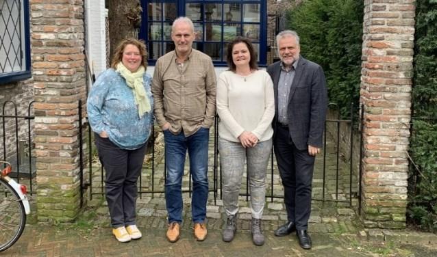 Christine Schut, Martin Hoogendoorn, Barbara Illing en Eugene Leenders (vlnr) vragen de steun van de lezers.