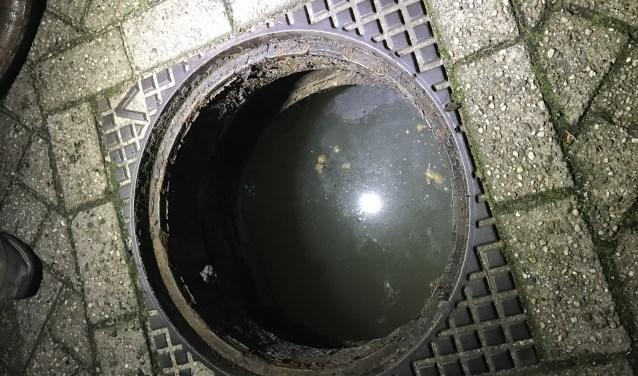 Rioolwater tot aan straathoogte