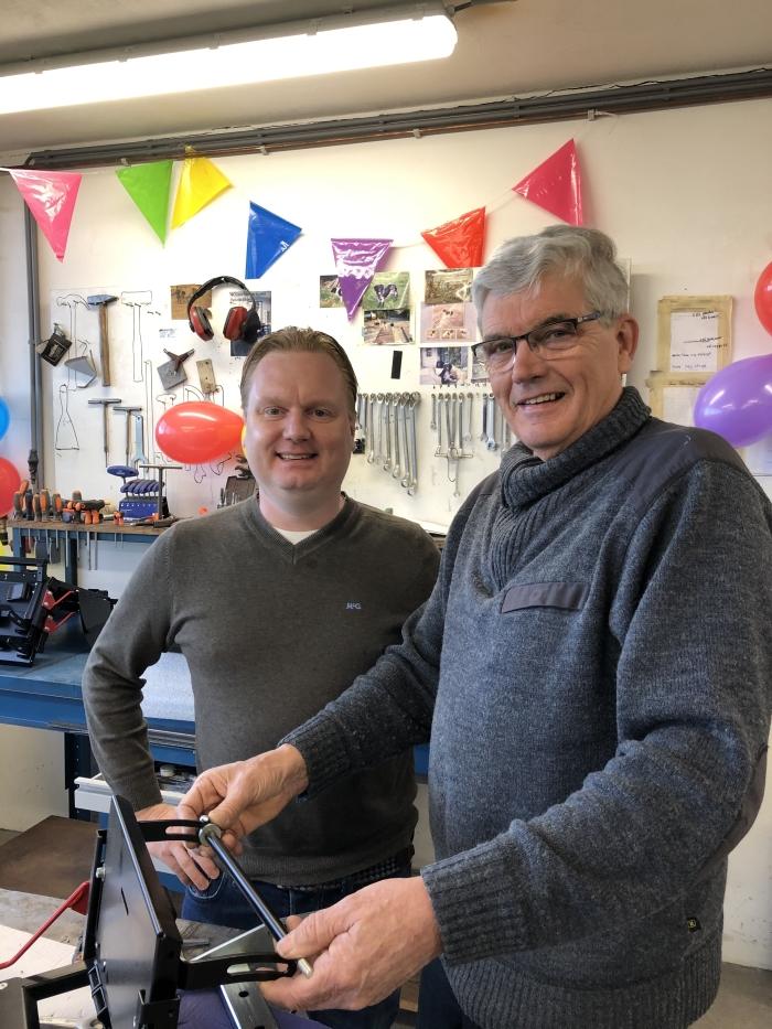 Piet met Hilbrand Peereboom, directeur van Peereboom Revalidatietechniek Flex-Media © BDU media