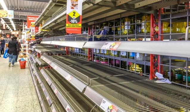 Corona gekte supermarkten