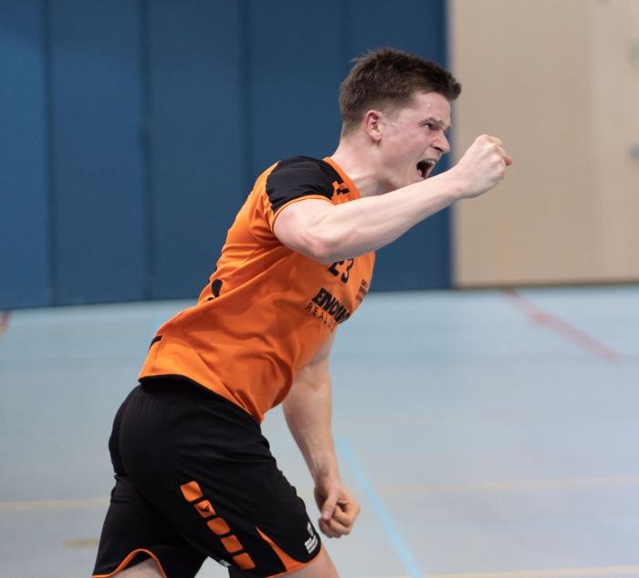 Mats den Besten na een Gorkumse goal Wim den Besten © BDU Media