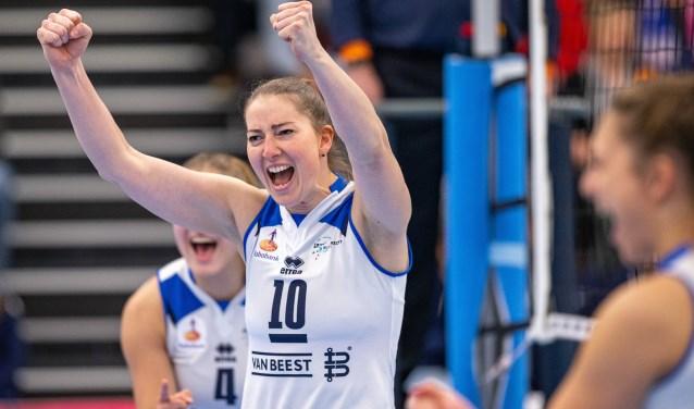 Carlijn Ghijssen-Jans is ook in 2020-2021 de aanvoerder van Sliedrecht Sport Dames 1.