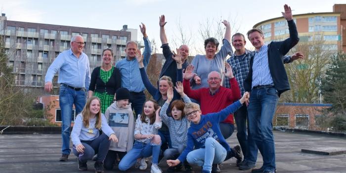Het Buurtbestuur Soesterkwartier, samen met het Buurtbestuur Junior.