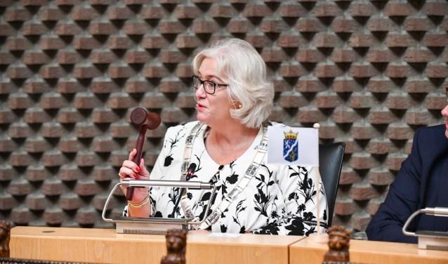 Zo zien we burgemeester Schuurmans voorlopig niet meer, ze werkt vooral thuis.