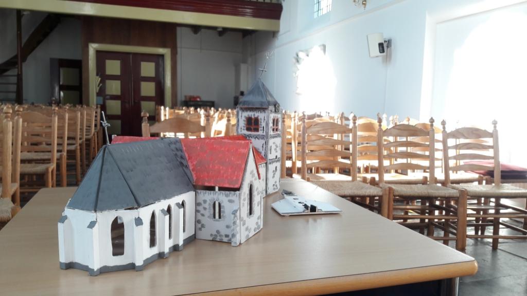<p>De oorspronkelijke kerk met vooraan het koor, dat sinds 1820 het hele Witte Kerkje van Odijk is.</p> <p>Johanna Muis</p> © BDU media