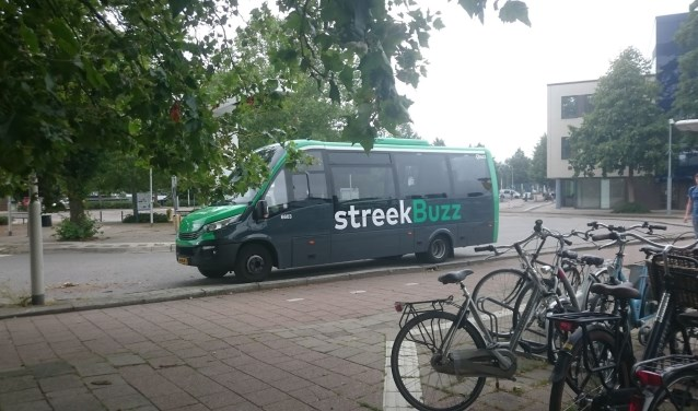 QBuzz gebruikt diverse soorten bussen om de dienstregeling te rijden. Deze bus werd ingezet nadat een elektrische dienst in Gorinchem weigerde.