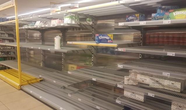 In de Jumbo in Baarn was vanochtend geen toiletpapier meer te krijgen.
