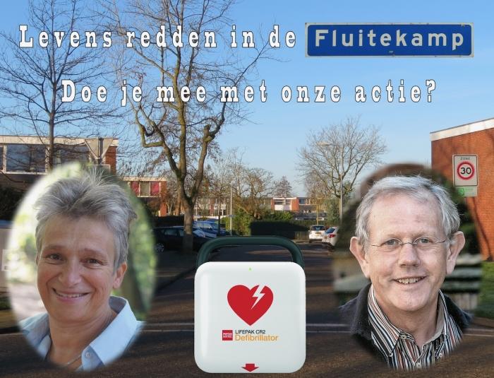 AED actie Fluitekamp, Hoogland