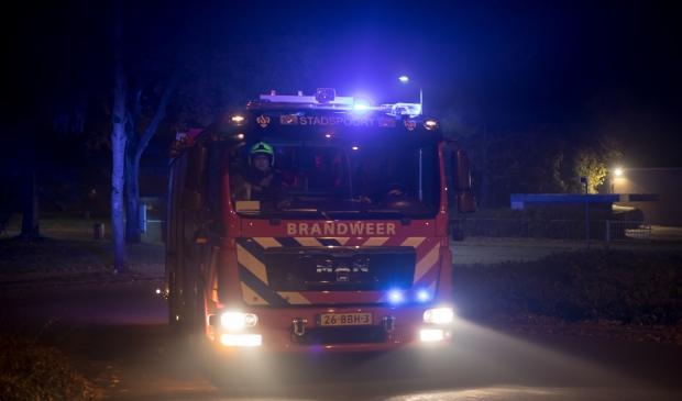 <p>Archieffoto van een uitruk van brandweer Stadspoort.</p>