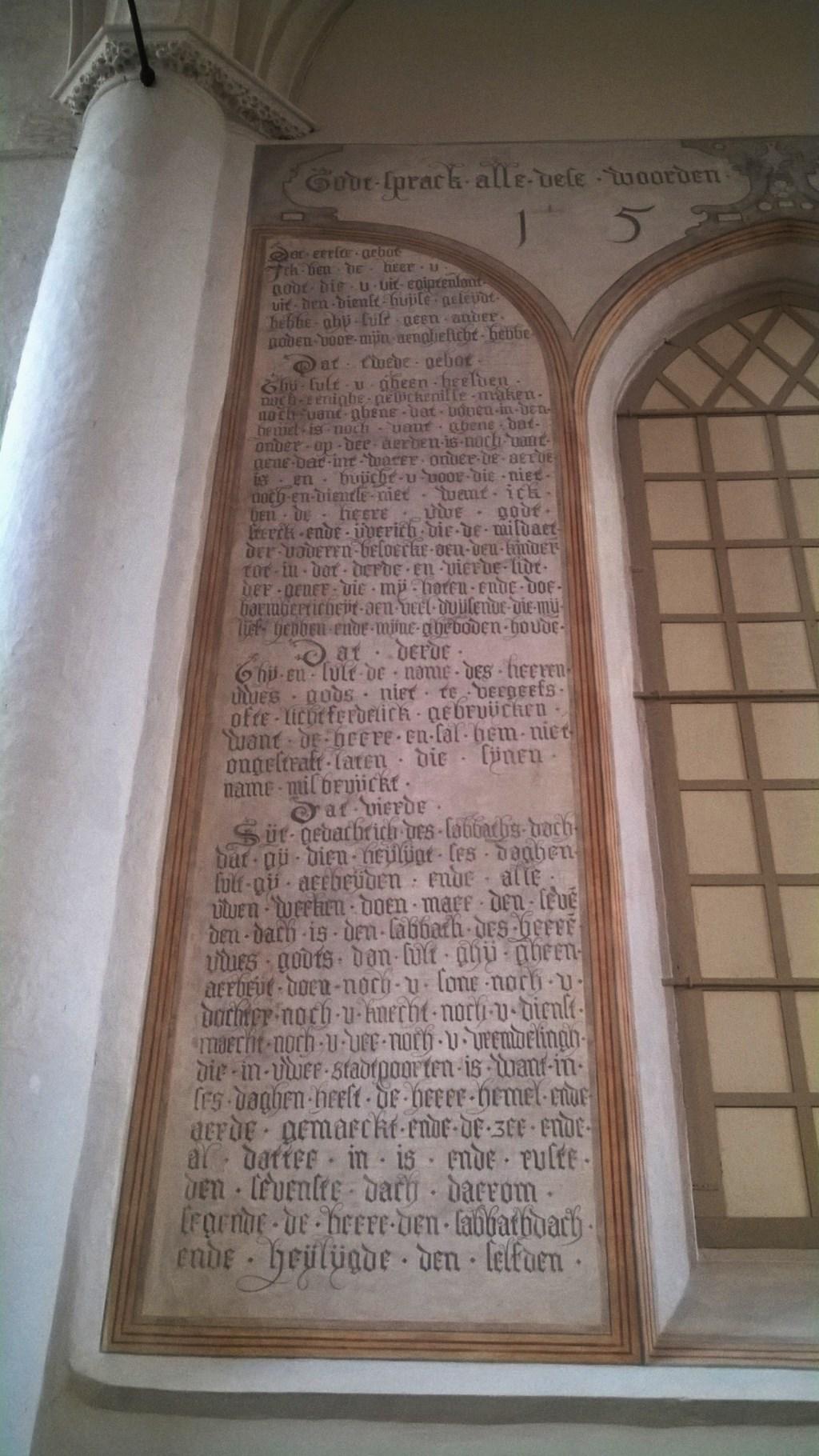 Tien Geboden schildering Gote Kerk Grote Kerk Wijk bij Duurstede © BDU media