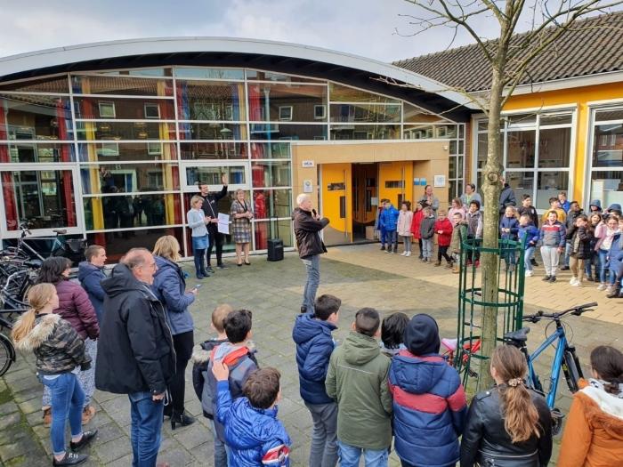De leerlingen van SBO Michaëlschool zijn blij om Gezonde School te zijn!