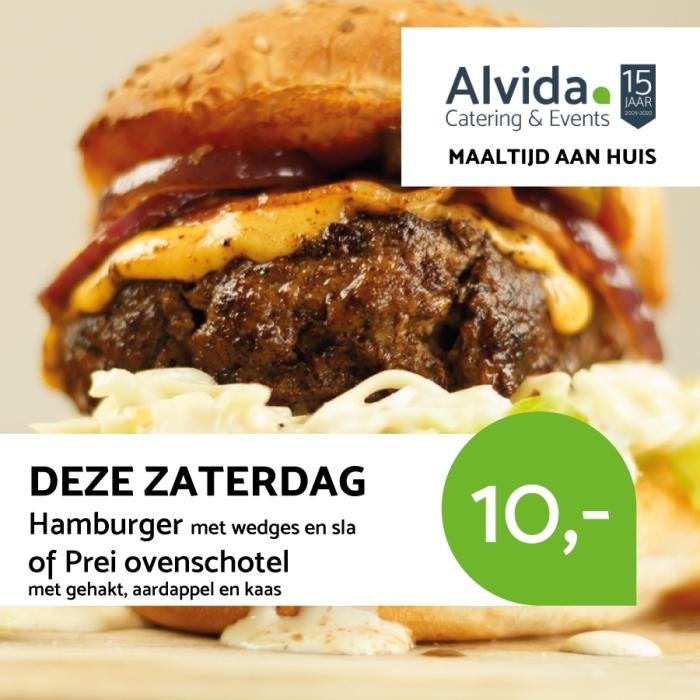 Daghap / Maaltijd menu Alvida Catering © BDU media