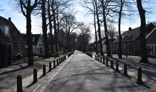Een ongewoon straatbeeld in Lage Vuursche.