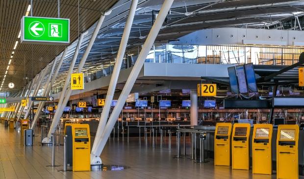 Schiphol Airport was een 'ghost town' in de eerste weken van de uitbraak van het coronavirus.