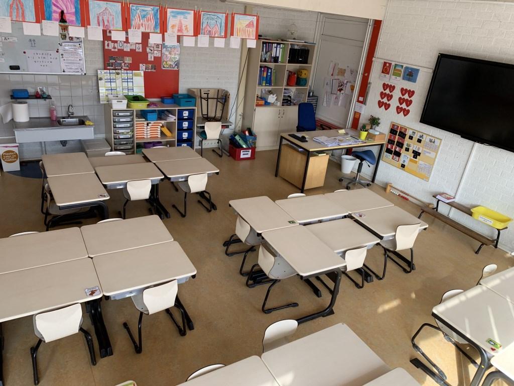Een leeg klaslokaal bij De Horn obs De Horn © BDU media