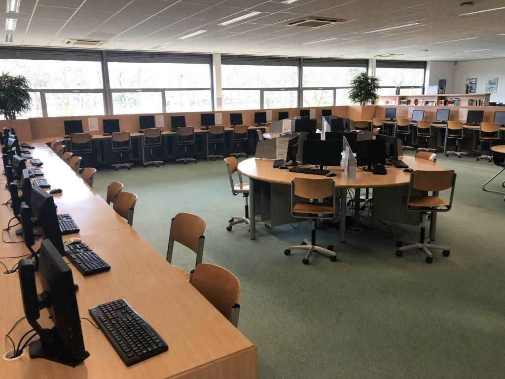 Het open leercentrum van Groevenbeek.  Christelijk College Groevenbeek © BDU media