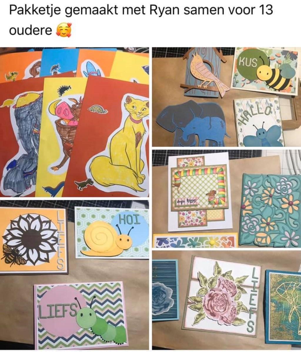 Voorbeelden van kaarten die door deelnemers aan de Facebookgroep zijn gemaakt Sonja de Groot © BDU media