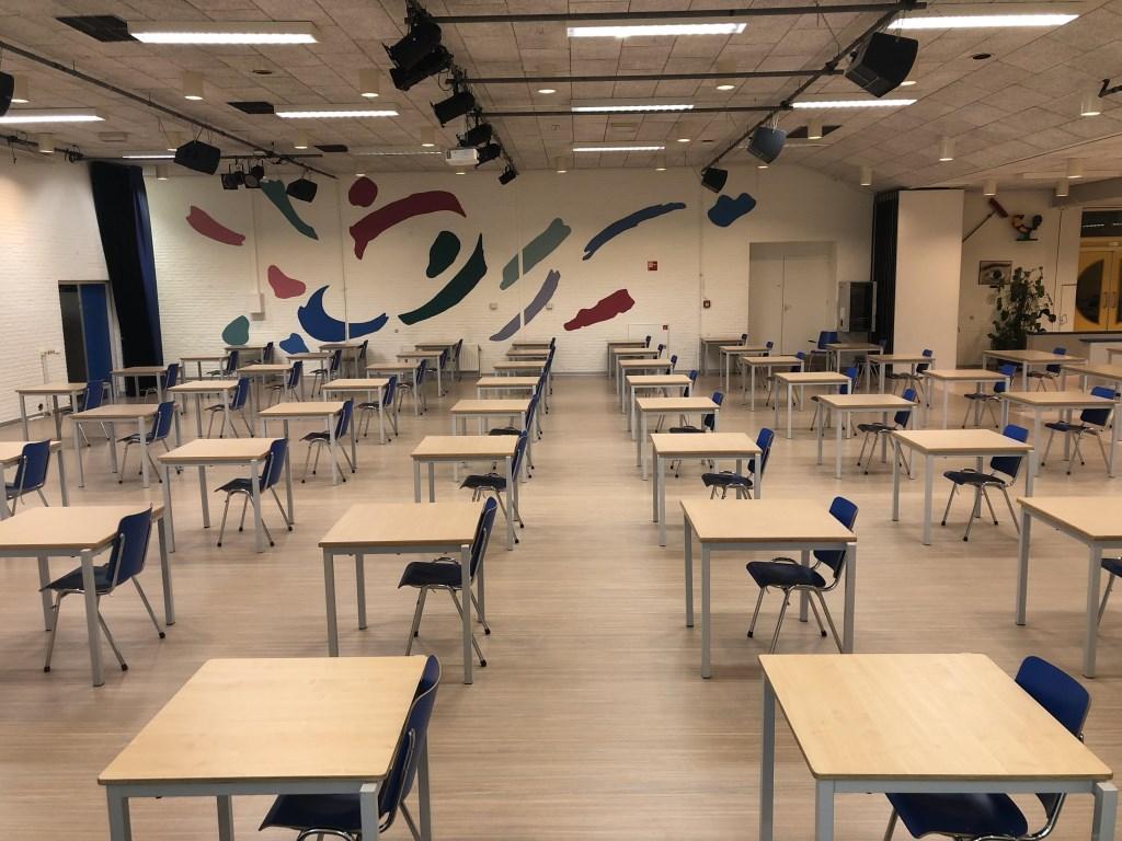 De aula van de school.  Christelijk College Groevenbeek © BDU media