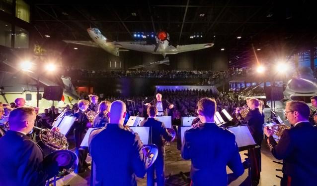 Elk jaar komen drieduizend bezoekers af op de Nacht van de Militaire Muziek in het Nationaal Militair Museum.
