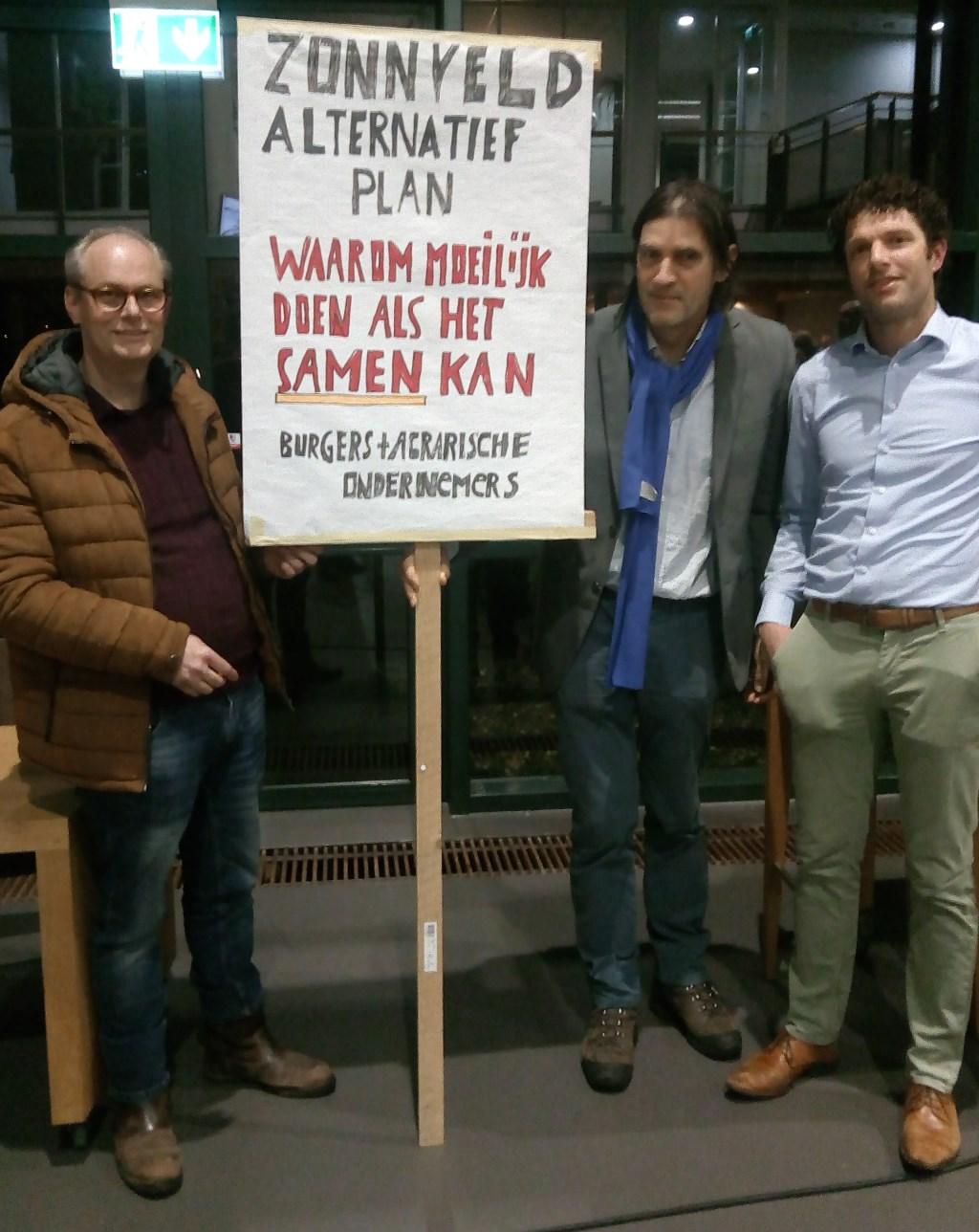 Spandoek met oproep om samen te werken aan een alternatief plan Fred Schenk © BDU media