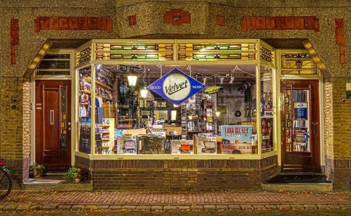 De Velvet Music winkel aan het Havik 7a in Amersfoort