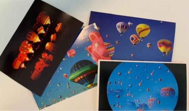 Fotokaarten van ballonfotograaf Ben Bläss.