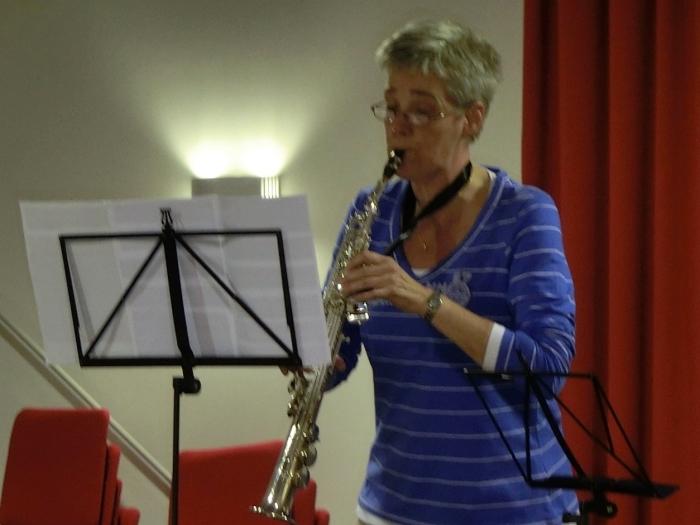 Marjolein tijdens een eerder solistenconcours
