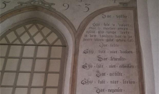 Tien Geboden bord Grote Kerk