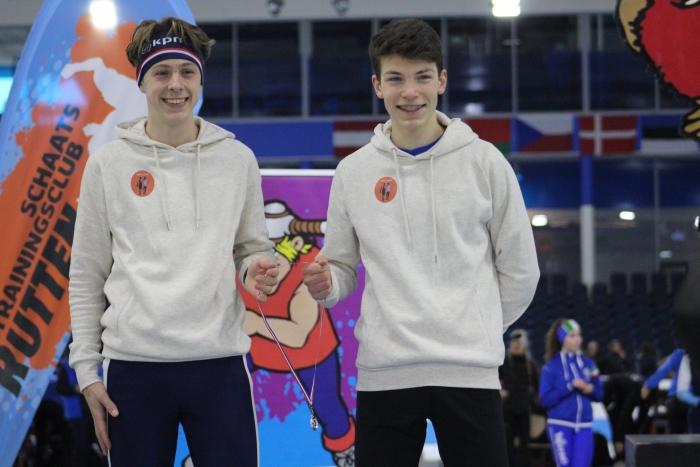 Mats en Ward samen 2e op de 500 meter Erik de Weerd © BDU media