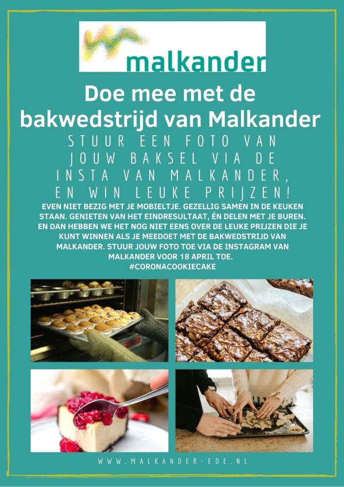 Promotie poster voor de bakwedstrijd