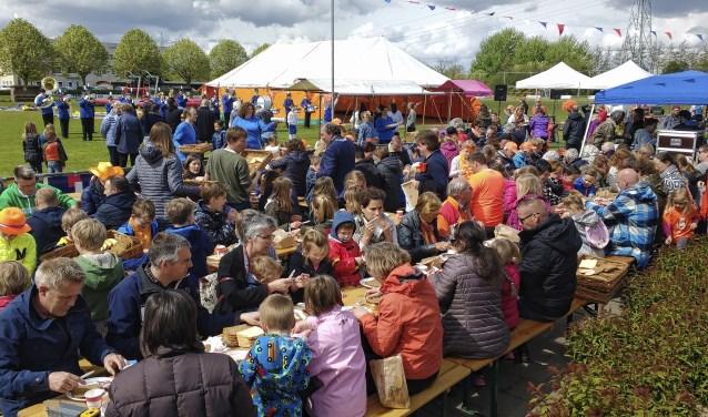 De inmiddels traditionele dorpslunch in Odijk is een van de vele activiteiten die niet doorgaan.