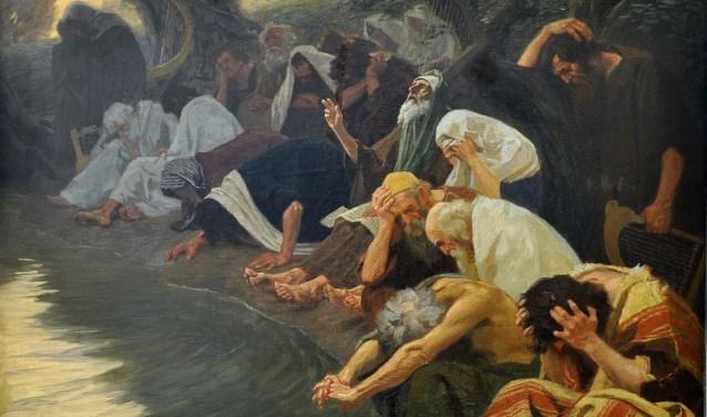 Schilderij 'An den Wassern Babylons' van Gebhard Fugel.