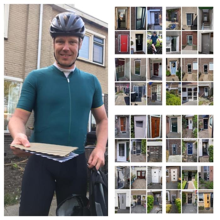Teamleider Remon Brink met de persoonlike attentie voor zijn teamleden. Bij 50 adressen in Nederland belde hij aan.