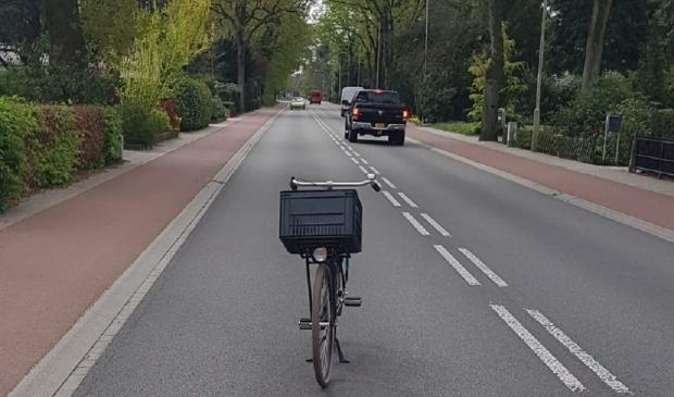 Een veelzeggende foto op de Arnhemseweg in Otterlo.
