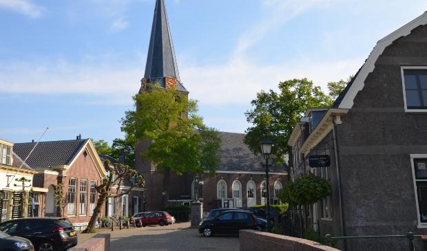 <p>Het kerkplein van Langbroek&nbsp;</p>