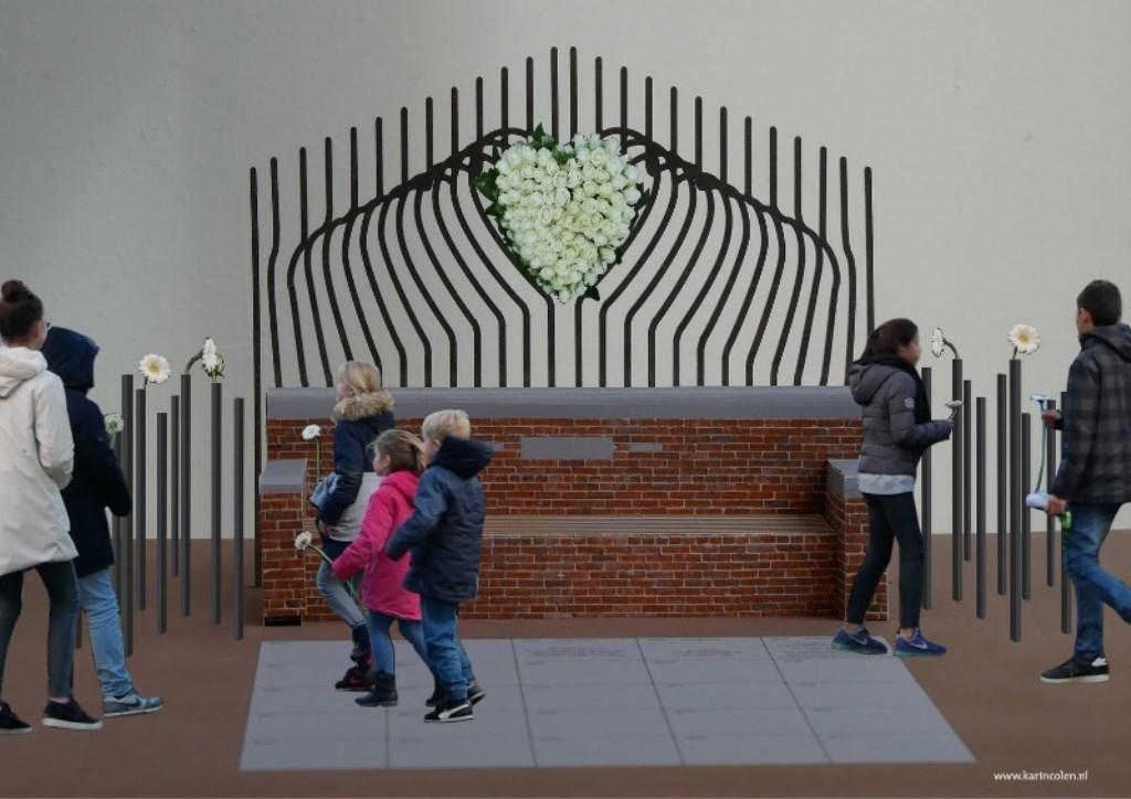 Het nieuwe monument op Het Plein