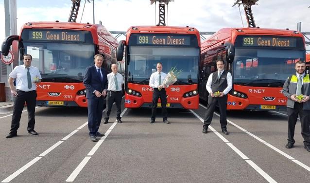 Blijk van waardering voor de buschauffeurs van Connexxion.