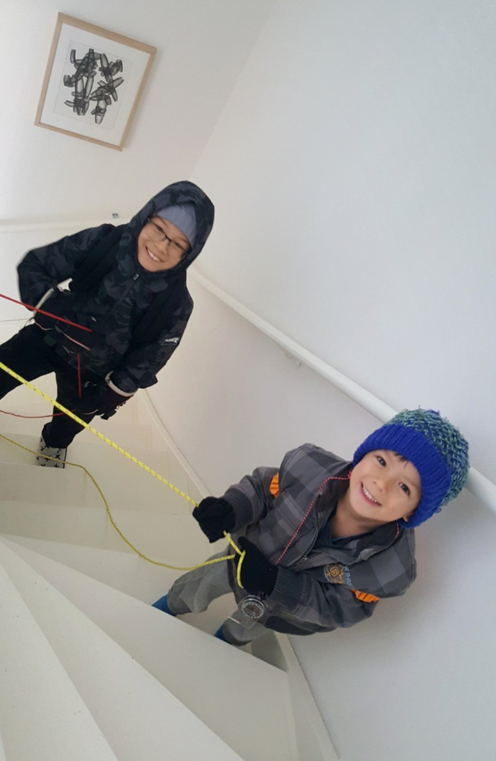 Evan en Milo tijdens hun training Louis Canalle © BDU media