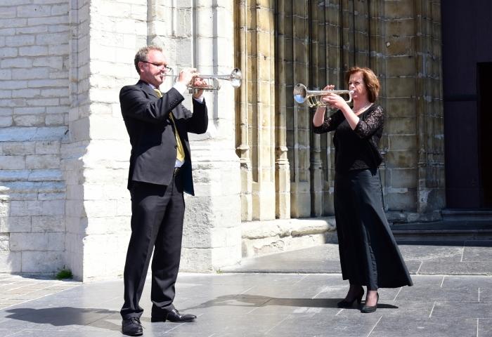 Trompettisten Arjan & Edith Post Eigen foto © BDU media